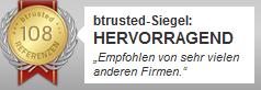 btrusted-Siegel,  Raumgestaltung Stefan Loy bei btrusted