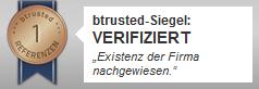 btrusted Siegel verifiziertes Unternehmen